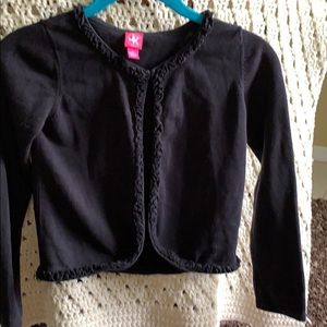 Black Sweater One top button Long sleeves.